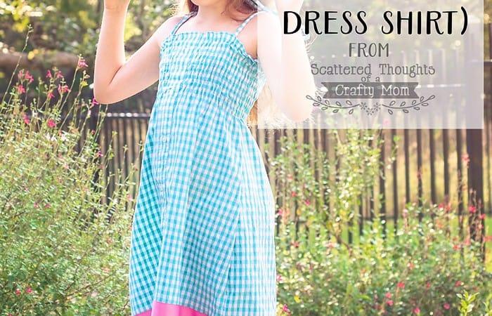 Make a Shirred Sundress from a Man's Dress Shirt