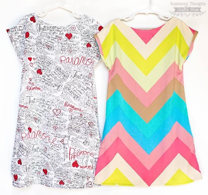 easy girls dress pattern, free