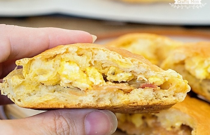 Grab and Go: Bacon Egg and Cheese Stuffed Biscuits