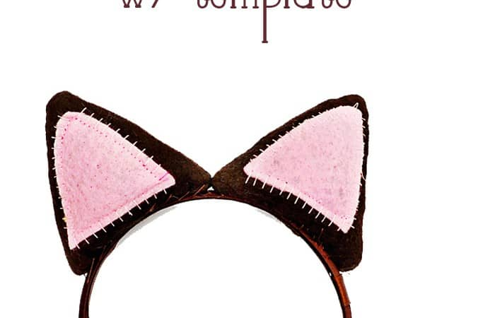 Make your own Cat Ear Headband!