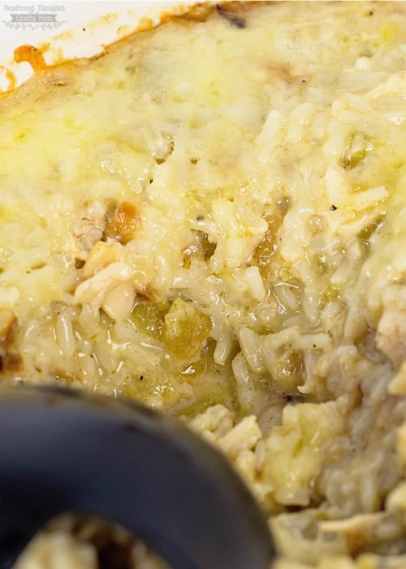 Green Chili chicken and rice casserole