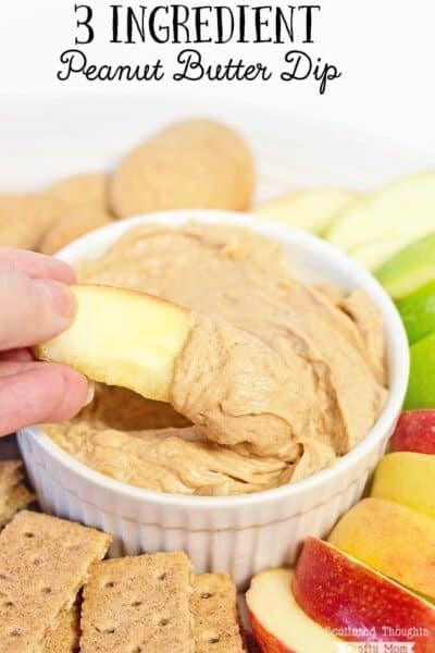 3 Ingredient Peanut Butter Dip
