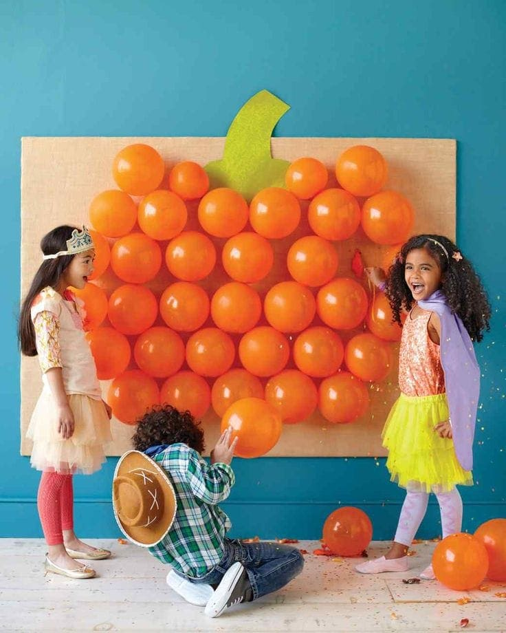 Halloween Party Games for Kids (pop the Balloon party game)
