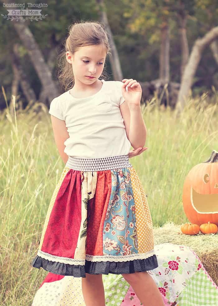 Flat Front Panel Skirt