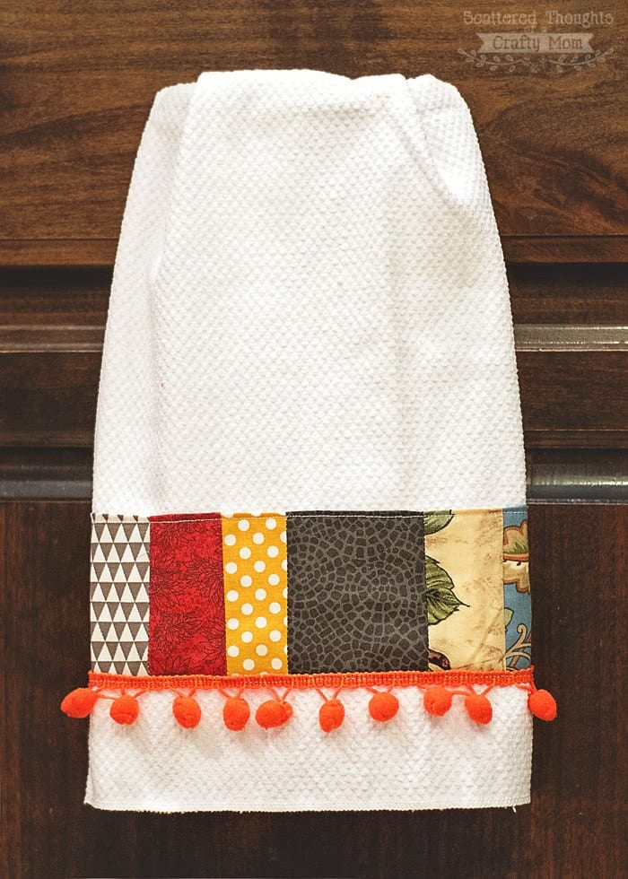 DIY Decorative Tea Towels - Scattered Thoughts of a Crafty