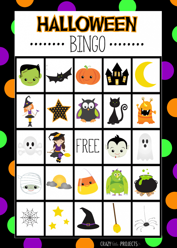 Halloween Bingo - Perfect halloween party games for kids