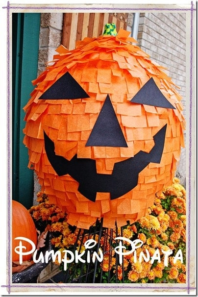halloween party ideas - diy pumpkin pinata