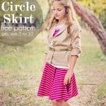 Easy Circle Skirt for Fall