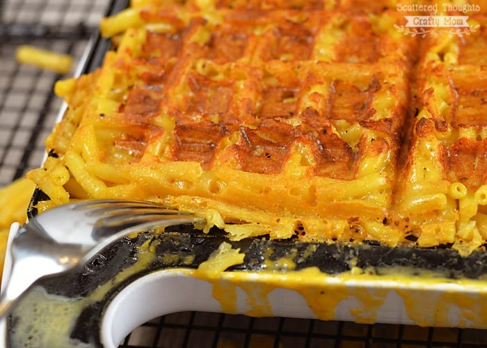 mac and cheese- waffled!