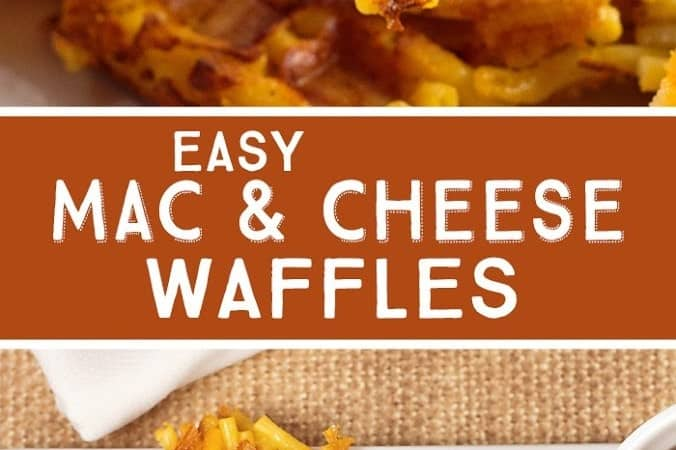 Easy Mac and Cheese Waffles