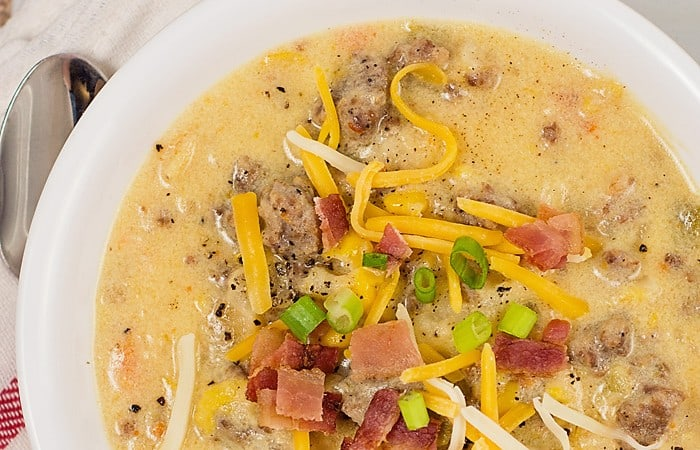 Slow Cooker Corn and Sausage Chowder