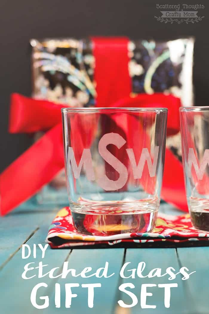 Gifts For 17 Year Old Girls Don T Break The Bank: DIY Etched Glass Gift Set (Handmade Gifts For The Holidays