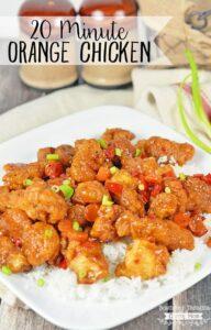 20 Minute Orange Chicken Recipe!