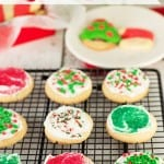 Make the perfect holiday Sugar cookies in a flash! These mix up in just a minute or two and bake in the oven in 5 to 10 minutes.