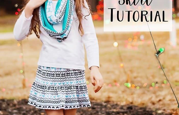 Super Simple Ruffle Bottom Knit Skirt Tutorial