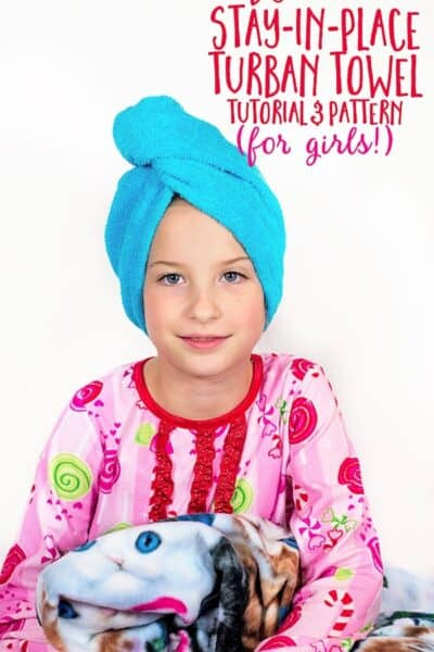 DIY Stay in Place Turban Towel