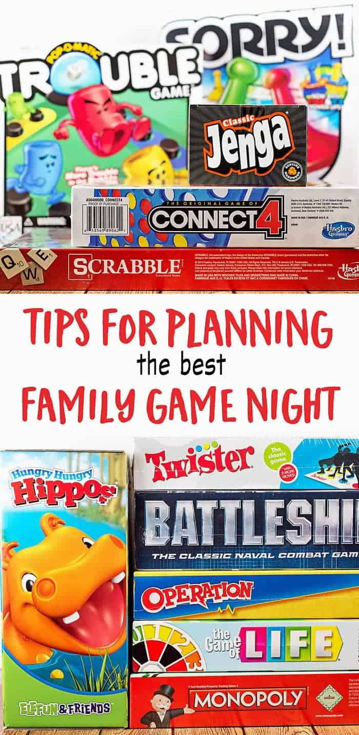 Tips to help you plan the best family game night!