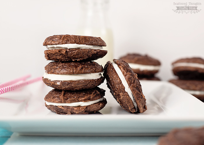 Easy Brownie Sandwich Cookies