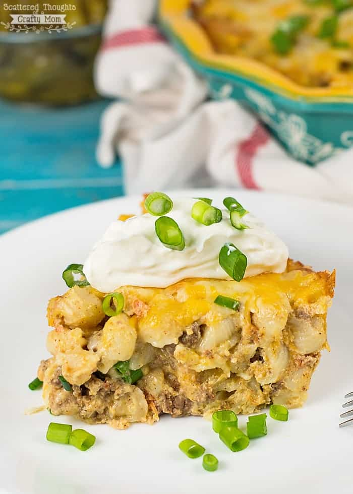 Beefy Mac and Cheese Taco Casserole