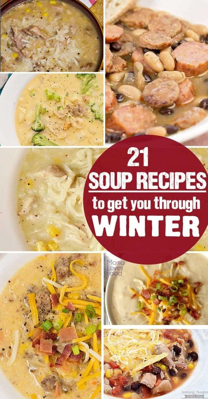 21 easy soup recipes for Winter soup recipes easy
