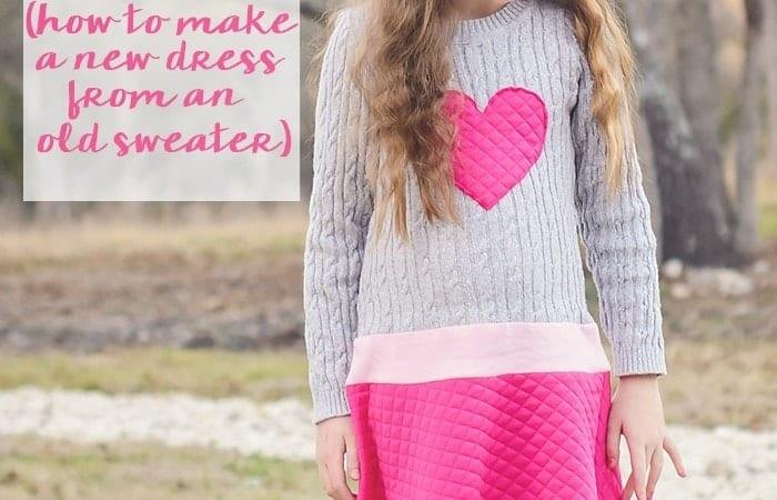Girl's Sweater Dress Tutorial