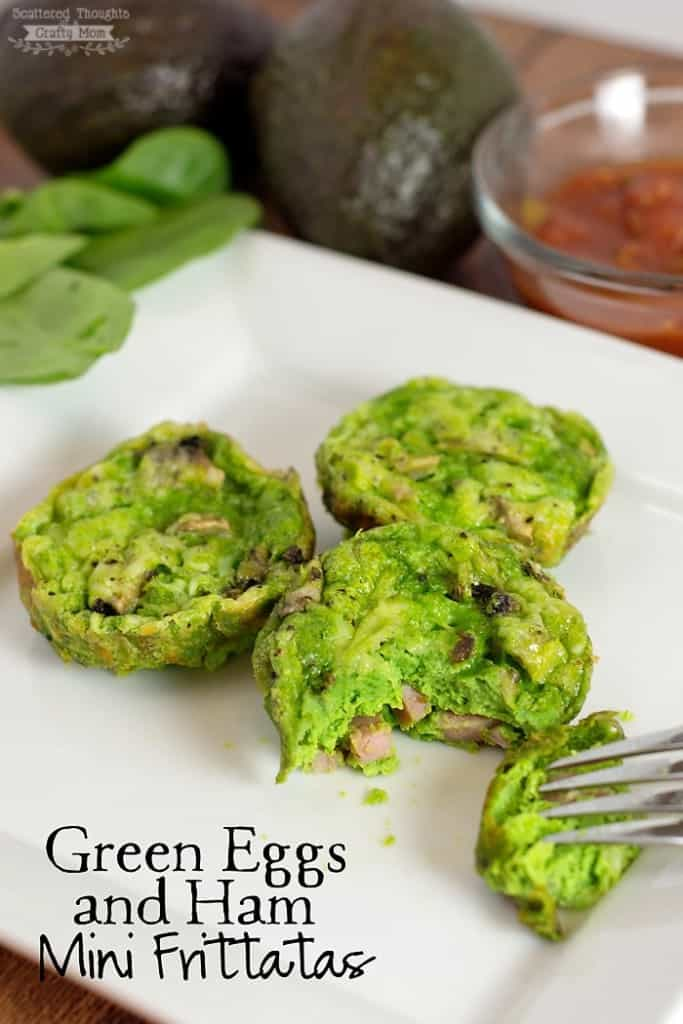 Green Eggs and Ham Recipe (Mini Frittatas for the Kids!)