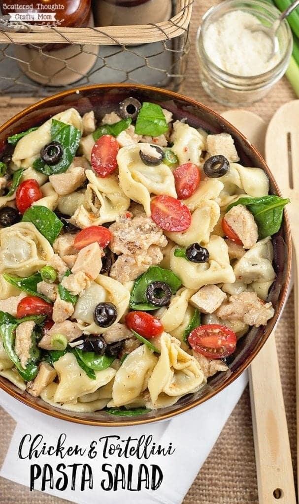 Tortellini Pasta Salad with chicken