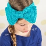 Crochet-bow-headband