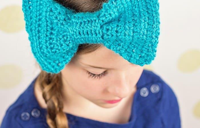 Big Bow Crochet Headband