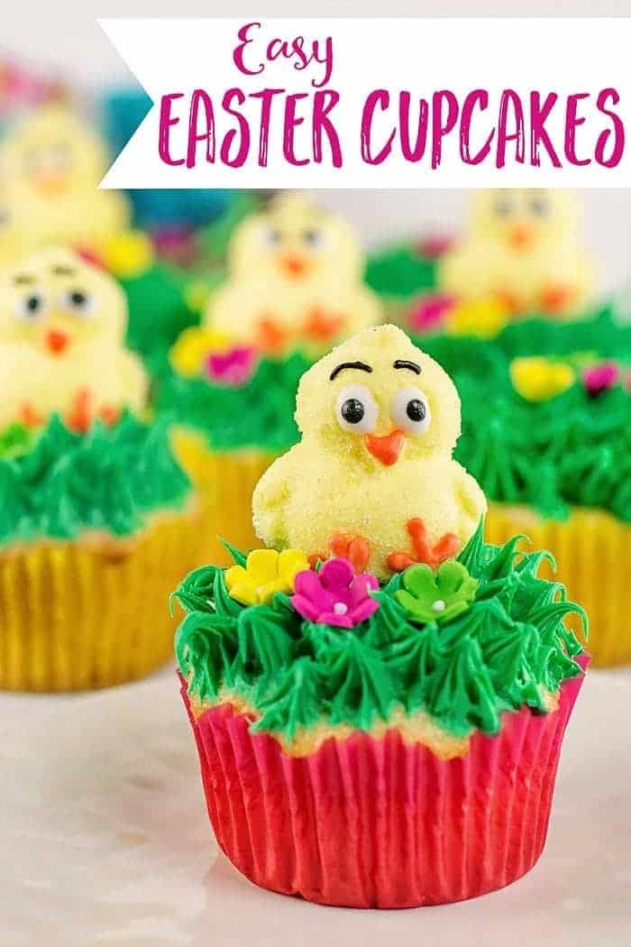 Easy Easter Cupcakes (make these in minutes with a boxed cake mix!)
