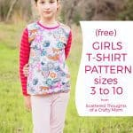 Free T-shirt Pattern for Girls (sz 3 to 10)