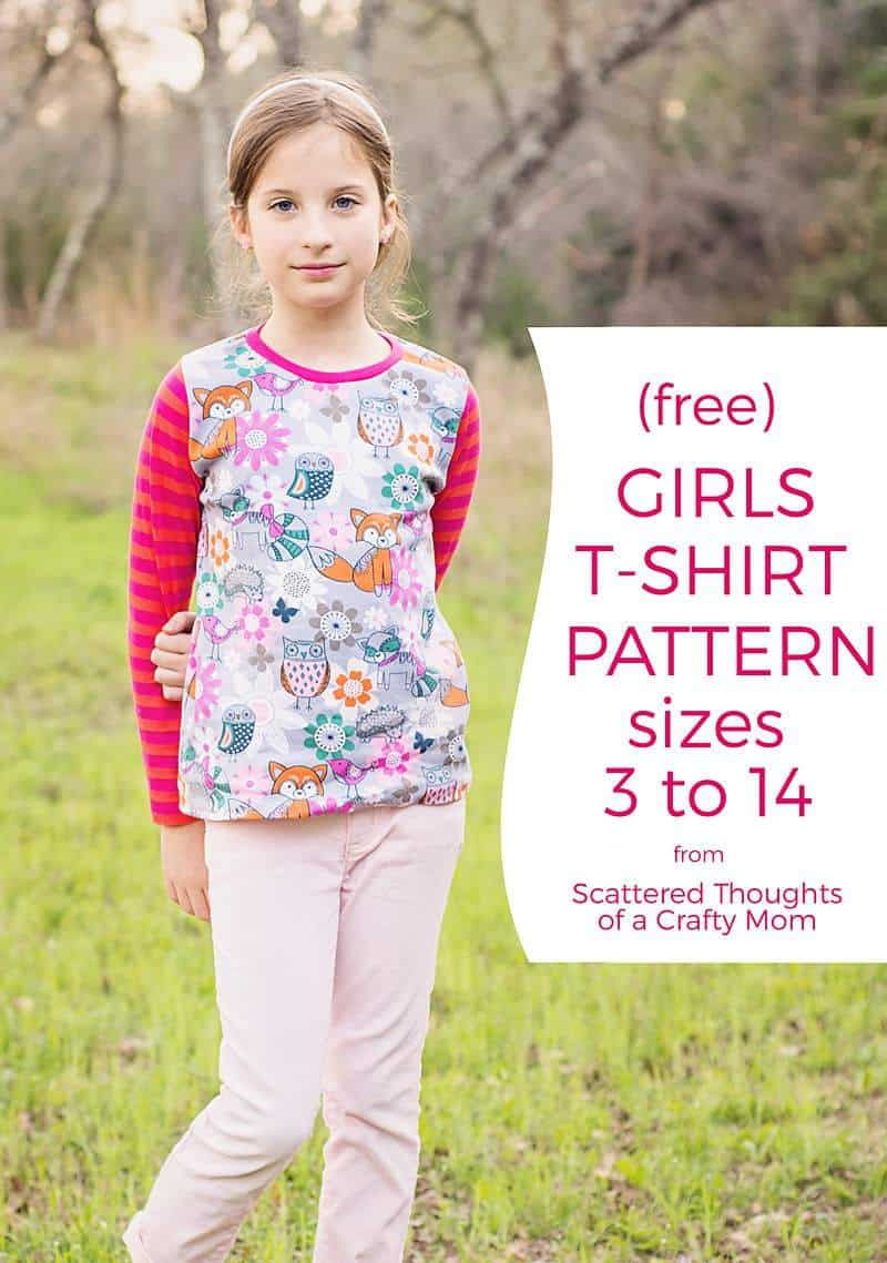 Free T-shirt Pattern sz 3 to 14 (how to sew a t-shirt)