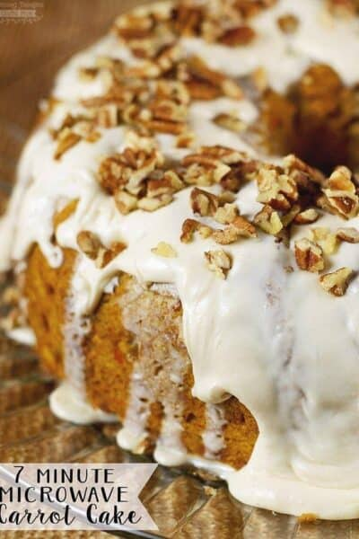 7 Minute Microwave Carrot Cake