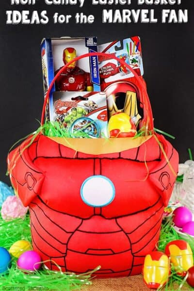 Non Candy Easter Basket Ideas for your Avengers Fan!