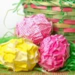 Ruffled Fabric Easter Eggs