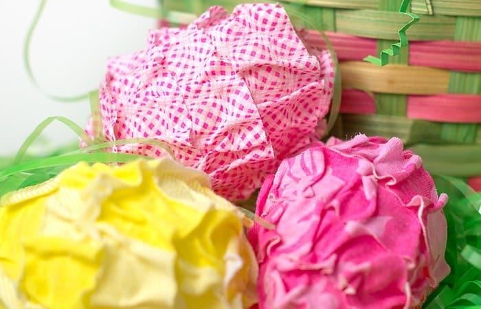 Ruffled Fabric Easter Eggs