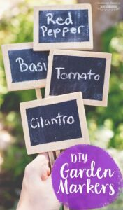 How to make DIY Garden Markers! These little garden markers are perfect for container gardens, raised bed gardens, square foot gardens and even great big gardens! The best part? The supplies are easy to find and they are super easy to make!