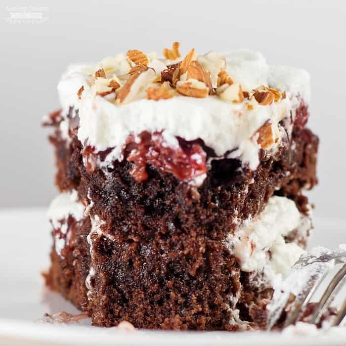 Black Forest Brownie Cake