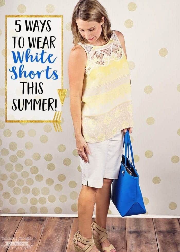 Ready to rock your white shorts this summer? Here are 5 simple outfit ideas to help you style and wear white shorts today!