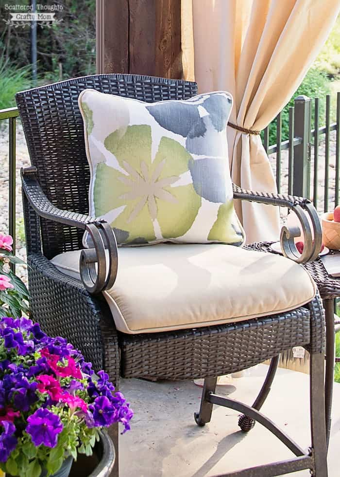 how to clean outdoor upholstered furniture - scattered thoughts of