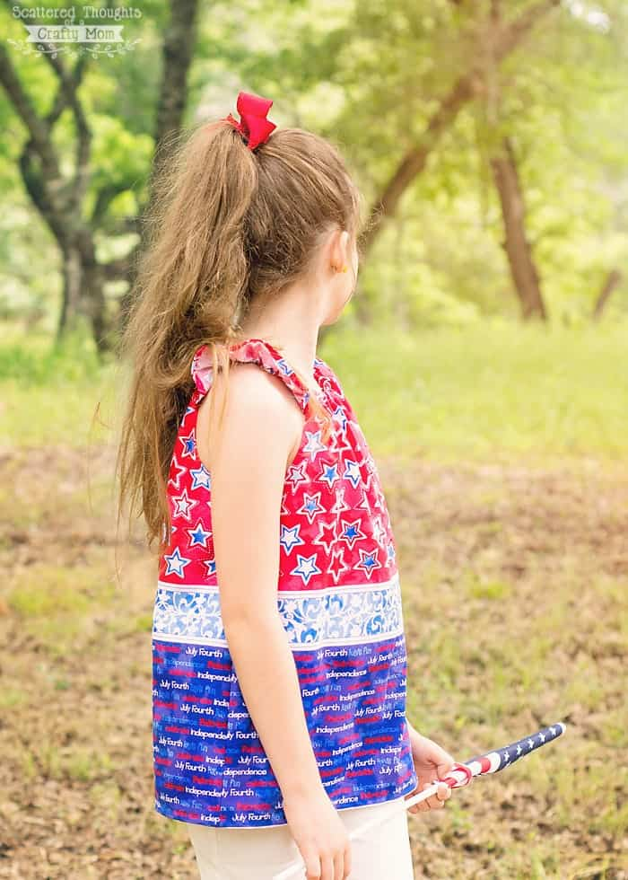 how to sew a flutter sleeve peasant top