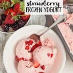 Easy Strawberry Frozen Yogurt