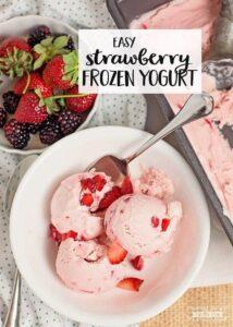 easy Strawberry Frozen Yogurt recipe