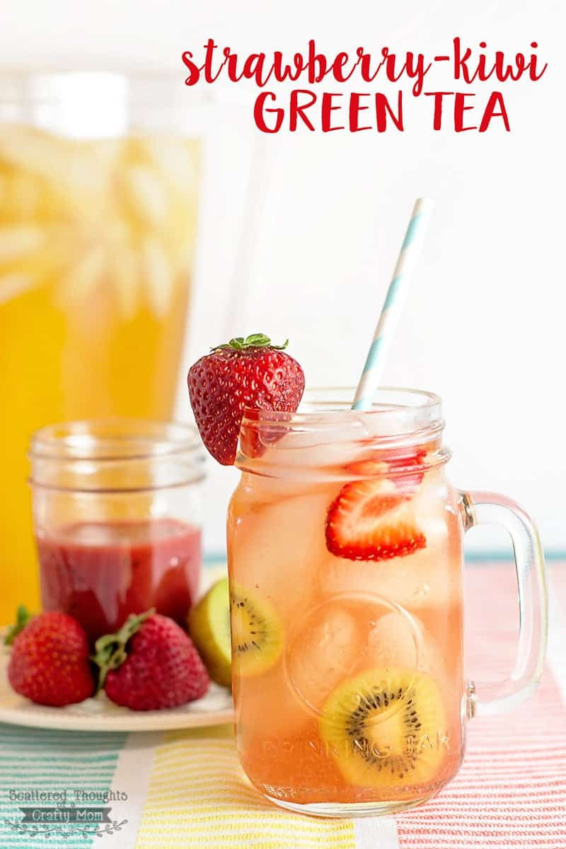 Easy DIY Strawberry-Kiwi Green Tea