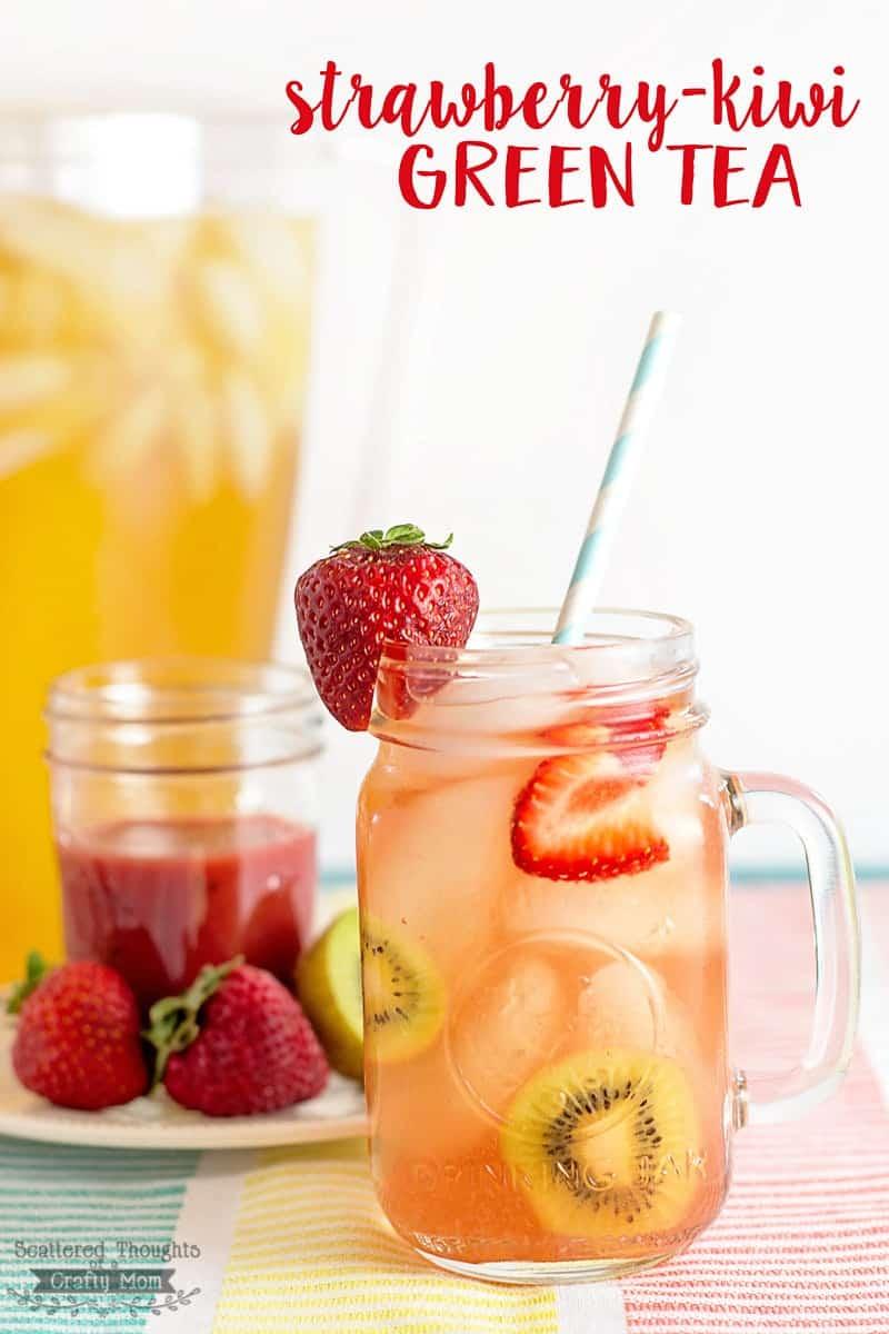 Easy DIY Strawberry-Kiwi Green Tea