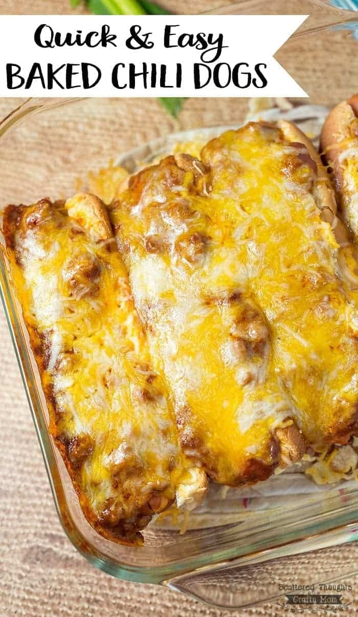 Chili Dog Fan? These Quick and Easy Baked Chili Dogs are a great lunch ...