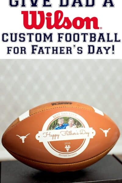 The Best Father's Day Gift Ever: a Wilson Custom Football!