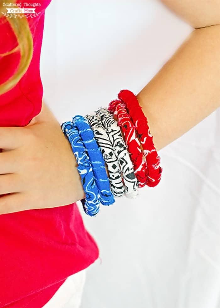 Easy Fabric Bracelet