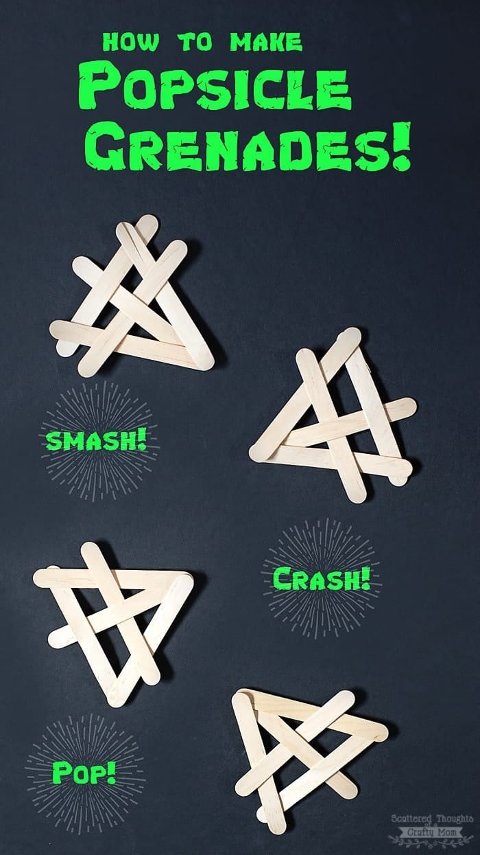 How to make Popsicle Stick Grenades