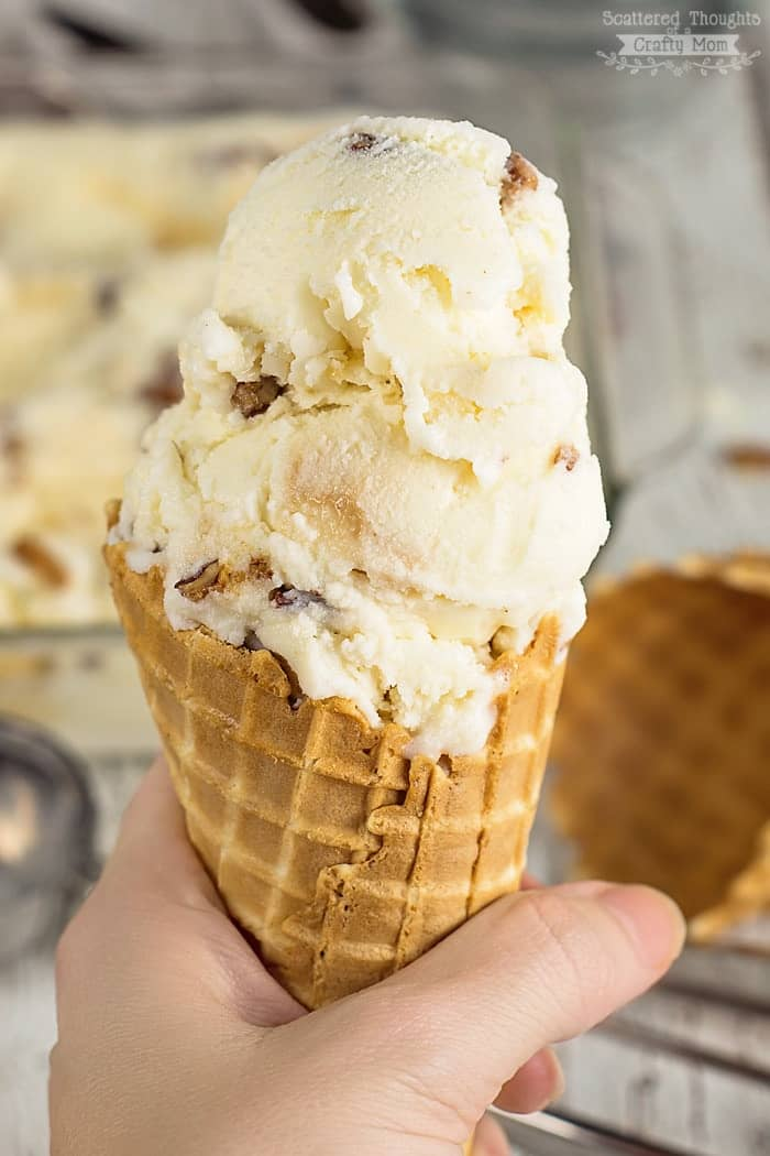 Homemade Buttered Pecan Ice Cream Recipe